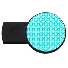 Awesome Retro Pattern Turquoise Usb Flash Drive Round (2 Gb)  by ImpressiveMoments
