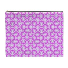 Retro Mirror Pattern Pink Cosmetic Bag (xl) by ImpressiveMoments