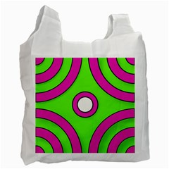 Neon Green Black Pink Abstract  Recycle Bag (one Side)