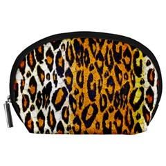 Cheetah Abstract Pattern  Accessory Pouches (large)
