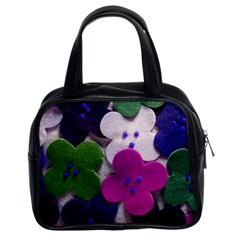 Cotton Flower Buttons  Classic Handbags (2 Sides)