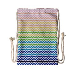 Pastel Gradient Rainbow Chevron Drawstring Bag (small) by CraftyLittleNodes