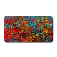 Abstract In Red, Turquoise, And Yellow Medium Bar Mats by digitaldivadesigns