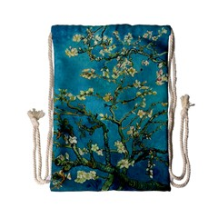 Blossoming Almond Tree Drawstring Bag (small) by MasterpiecesOfArt