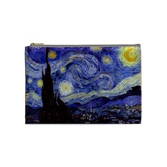 Van Gogh Starry Night Cosmetic Bag (medium)  by fineartgallery