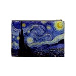 Van Gogh Starry Night Cosmetic Bag (Medium)  Back