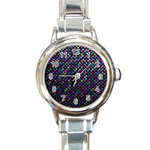 Polka Dot Sparkley Jewels 2 Round Italian Charm Watches