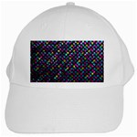 Polka Dot Sparkley Jewels 2 White Cap