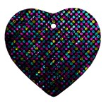 Polka Dot Sparkley Jewels 2 Ornament (Heart)