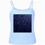 Polka Dot Sparkley Jewels 2 Baby Blue Spaghetti Tanks