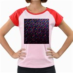 Polka Dot Sparkley Jewels 2 Women s Cap Sleeve T-Shirt