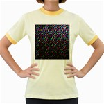Polka Dot Sparkley Jewels 2 Women s Fitted Ringer T-Shirts