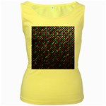 Polka Dot Sparkley Jewels 2 Women s Yellow Tank Tops