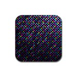 Polka Dot Sparkley Jewels 2 Rubber Coaster (Square)