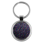 Polka Dot Sparkley Jewels 2 Key Chains (Round)