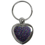 Polka Dot Sparkley Jewels 2 Key Chains (Heart)