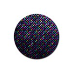 Polka Dot Sparkley Jewels 2 Rubber Coaster (Round)