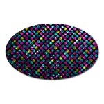 Polka Dot Sparkley Jewels 2 Oval Magnet