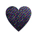 Polka Dot Sparkley Jewels 2 Heart Magnet