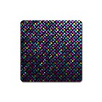 Polka Dot Sparkley Jewels 2 Square Magnet