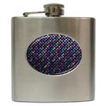 Polka Dot Sparkley Jewels 2 Hip Flask (6 oz)