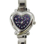 Polka Dot Sparkley Jewels 2 Heart Italian Charm Watch