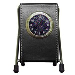 Polka Dot Sparkley Jewels 2 Pen Holder Desk Clocks