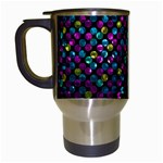 Polka Dot Sparkley Jewels 2 Travel Mugs (White)