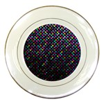 Polka Dot Sparkley Jewels 2 Porcelain Plates