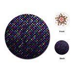 Polka Dot Sparkley Jewels 2 Playing Cards (Round)