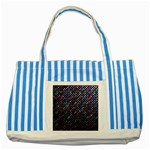 Polka Dot Sparkley Jewels 2 Striped Blue Tote Bag