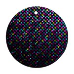 Polka Dot Sparkley Jewels 2 Round Ornament (Two Sides)