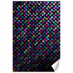 Polka Dot Sparkley Jewels 2 Canvas 24  x 36