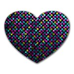 Polka Dot Sparkley Jewels 2 Heart Mousepads