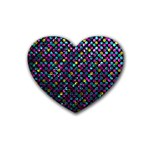 Polka Dot Sparkley Jewels 2 Rubber Coaster (Heart)