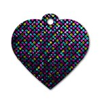 Polka Dot Sparkley Jewels 2 Dog Tag Heart (Two Sides)