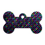 Polka Dot Sparkley Jewels 2 Dog Tag Bone (Two Sides)