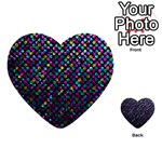 Polka Dot Sparkley Jewels 2 Multi-purpose Cards (Heart)
