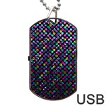 Polka Dot Sparkley Jewels 2 Dog Tag USB Flash (One Side)