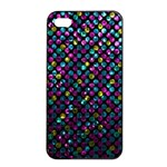 Polka Dot Sparkley Jewels 2 Apple iPhone 4/4s Seamless Case (Black)