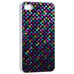 Polka Dot Sparkley Jewels 2 Apple iPhone 4/4s Seamless Case (White)