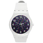 Polka Dot Sparkley Jewels 2 Round Plastic Sport Watch (M)