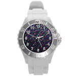 Polka Dot Sparkley Jewels 2 Round Plastic Sport Watch (L)
