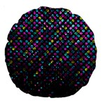 Polka Dot Sparkley Jewels 2 Large 18  Premium Round Cushions