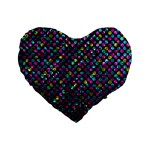 Polka Dot Sparkley Jewels 2 Standard 16  Premium Heart Shape Cushions