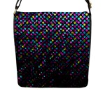 Polka Dot Sparkley Jewels 2 Flap Messenger Bag (L)