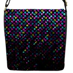 Polka Dot Sparkley Jewels 2 Flap Messenger Bag (S)