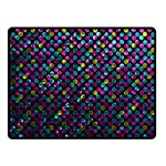 Polka Dot Sparkley Jewels 2 Double Sided Fleece Blanket (Small)