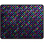 Polka Dot Sparkley Jewels 2 Double Sided Fleece Blanket (Medium)
