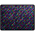 Polka Dot Sparkley Jewels 2 Double Sided Fleece Blanket (Large)